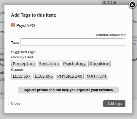 tag interface