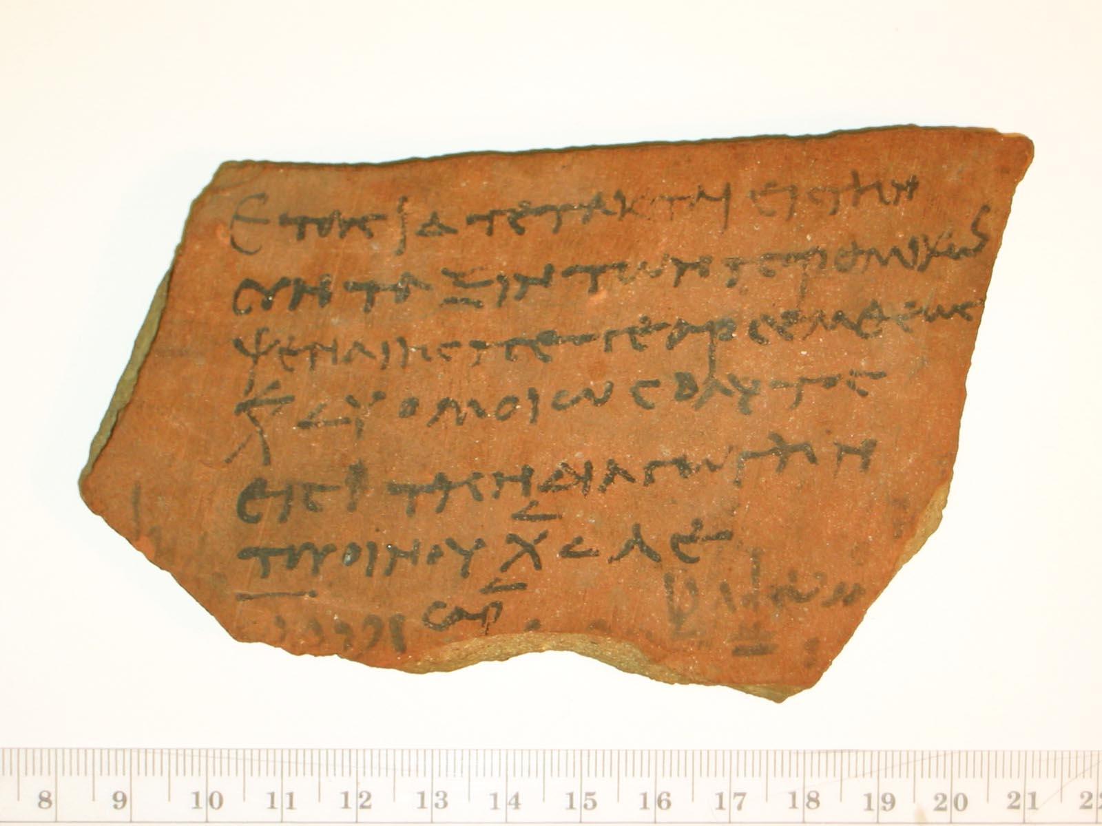 ancient writing materials  ostraka