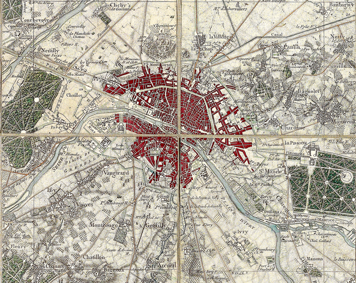 Image of Map titled Environs de Paris by Guillaume Coutans