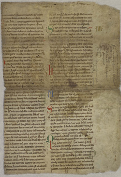 Bible with glossa, verso
