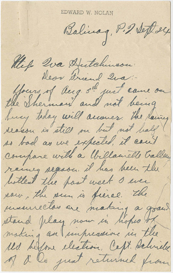 Lowell's letter