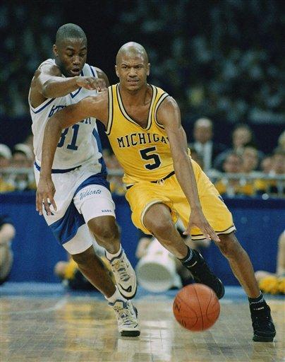 Digital photograph of Michigan mens basketball player