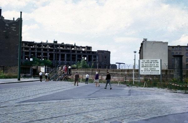 Digitized slide of Berlin Wall