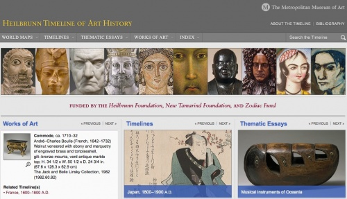 Metropolitan museum of art timelines and thematic essays
