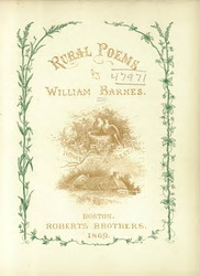 Image of front cover of title- Rural Poems