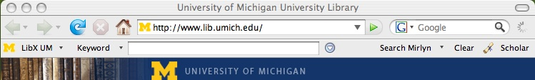LibX Toolbar for University of Michigan Libraries