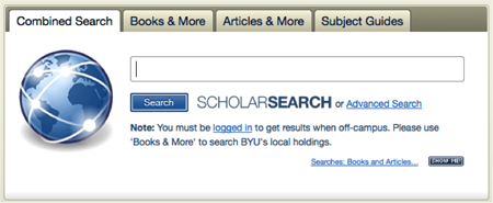 BYU Search Box