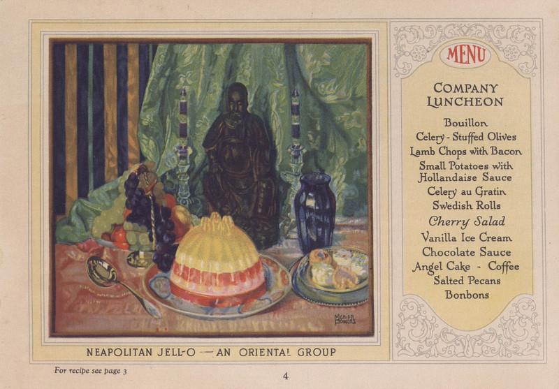 Jell-O, America's most famous dessert (1926); p. 4