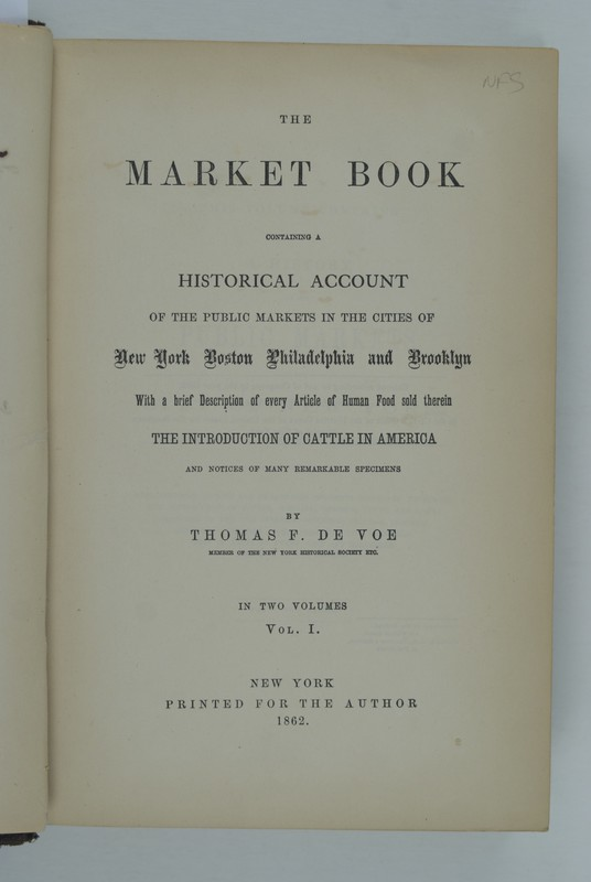 "<span id=""docs-internal-guid-5bd8c20b-2354-e287-8ef3-17e9456b12dd"">The Market Book containing a Historical Account of the Public Markets in the Cities of New York Boston Philadelphia and Brooklyn With a brief Description of every Article of Human Fold sold therein. Vol. I</span>"