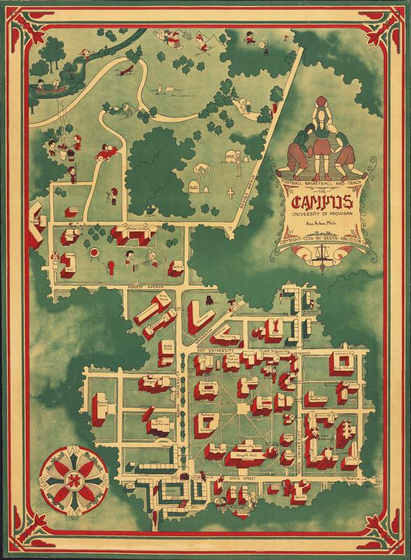 The Campus: University of Michigan, Ann Arbor, Michigan, 1936