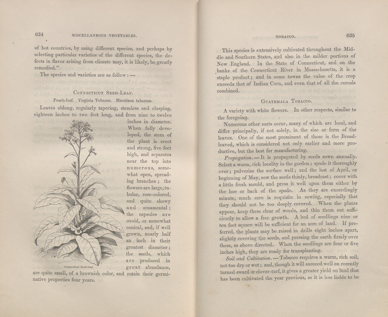 Pages 634-635 of The Field and Garden Vegetables of America : Containing Full Descriptions of Nearly Eleven Hundred Species and Varieties; with Directions for Propagation, Culture, and Use