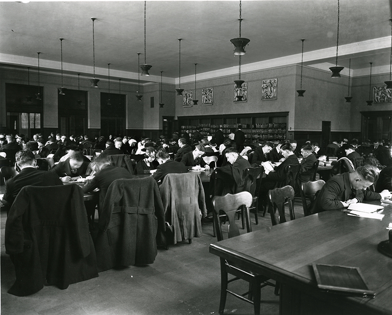 Study Hall in the new General Library