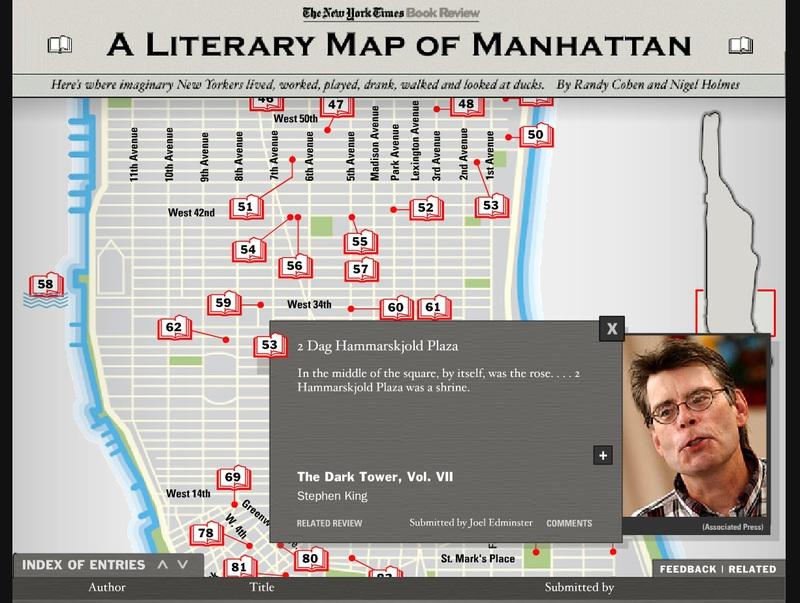 Interactive Literary Map of Manhattan