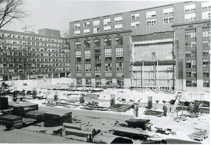 Construction of the South Building of Harlan Hatcher Graduate Library