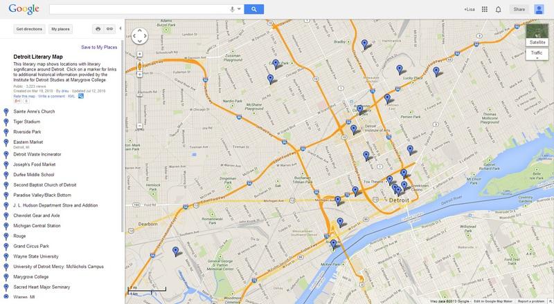 Literary Map of Detroit