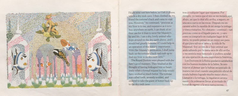 Pages 46-47 The Hare and the Tortoise & The Tortoise and the Hare = La Liebre y la Tortuga & La Tortuga y la Liebre