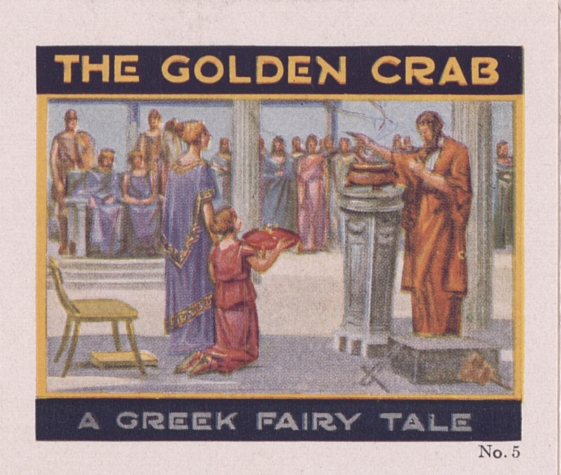 The golden crab: a Greek fairy tale, no. 5 [Jell-O recipe brochures] (1928); p. [1]