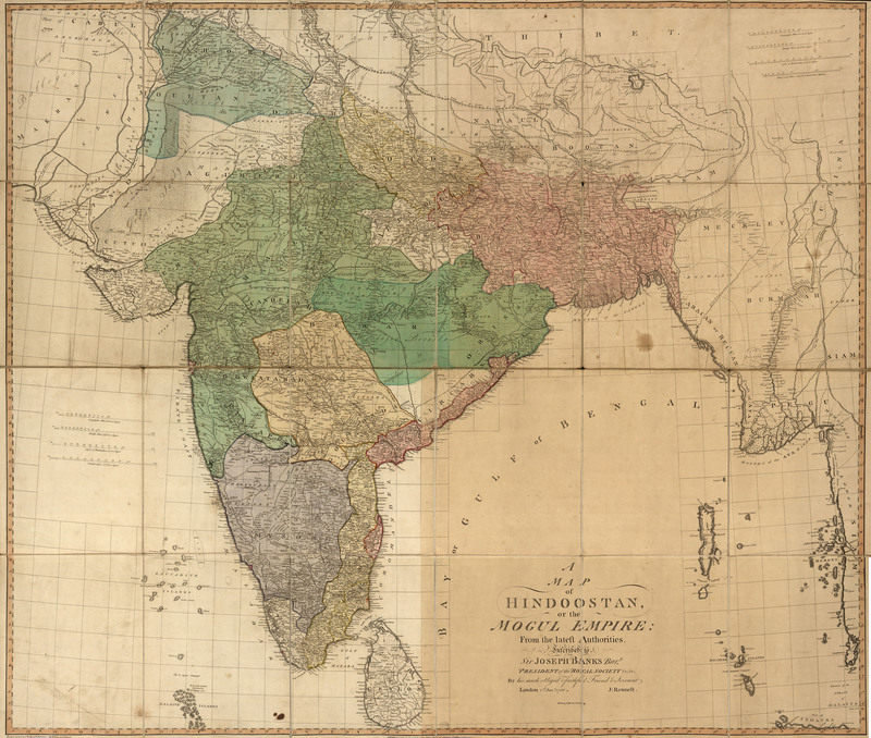 A map of Hindoostan, or the Mogul Empire : from the latest authorities