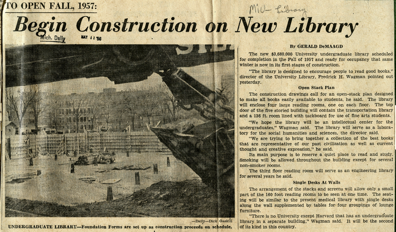 Undergraduate Library Construction Begins