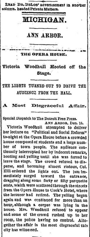 Victoria Woodhull News Clip