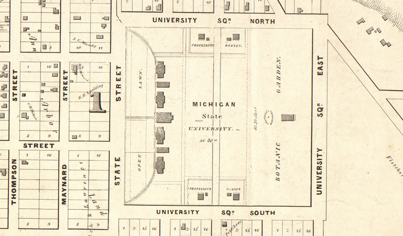"1840 plan from ""City of Ann Arbor, Washtenaw County, Michigan'"