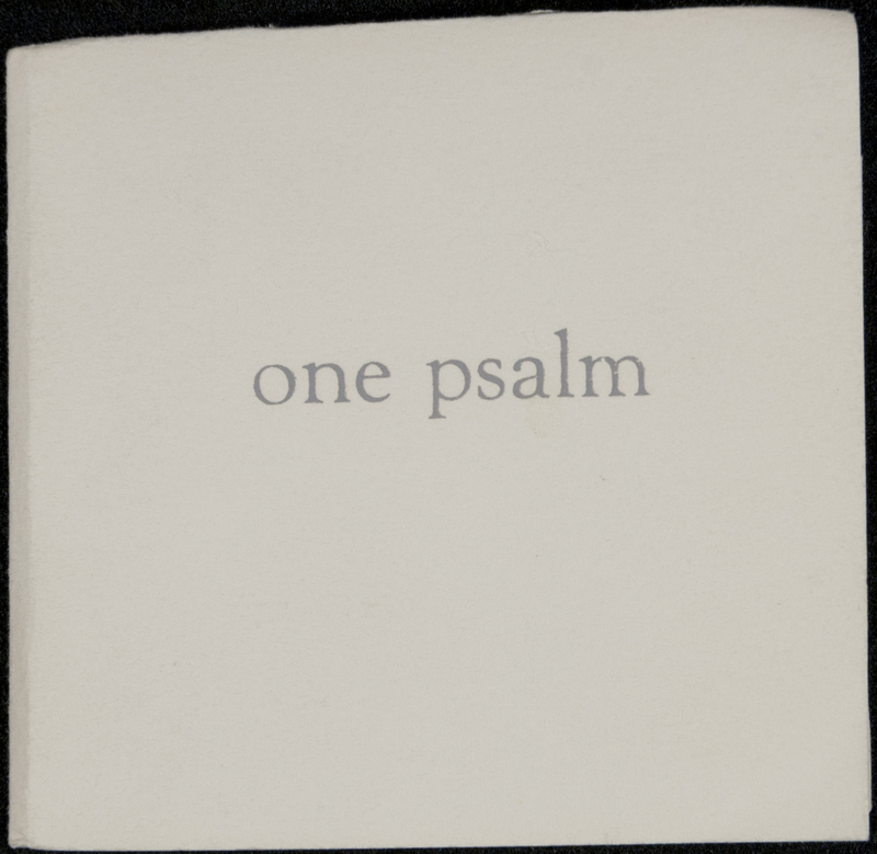 One Psalm