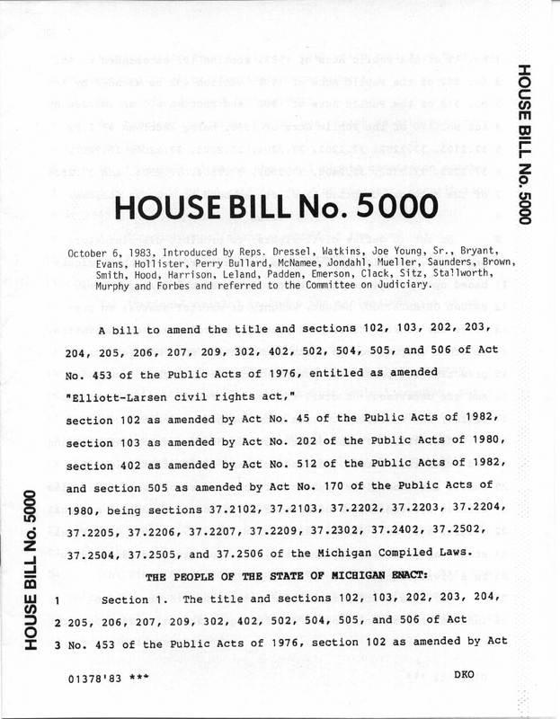 Michigan House Bill 5000
