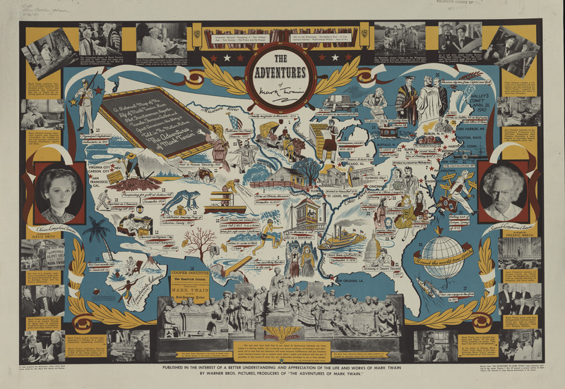 The Adventures of Mark Twain:  A Pictorial Map of the Life of Mark Twain