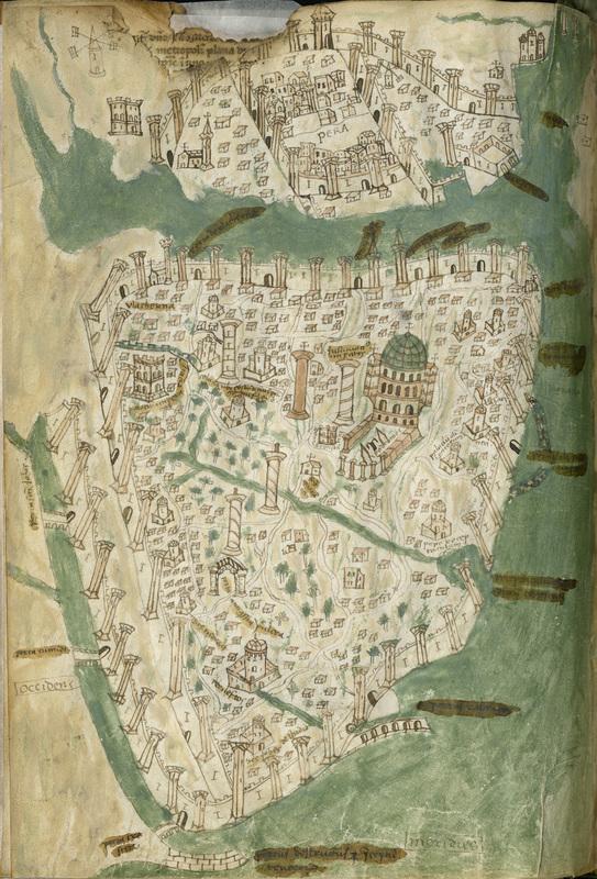 Map of Constantinople from Liber insularum Archipielagi