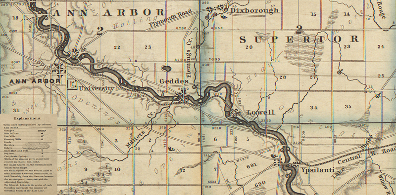 Excerpt of Map of Washtenaw County