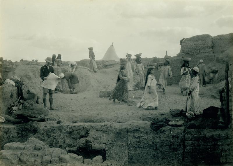University of Michigan excavation in progress at Karanis, Egypt