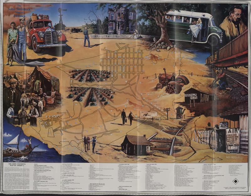 The John Steinbeck Map of America