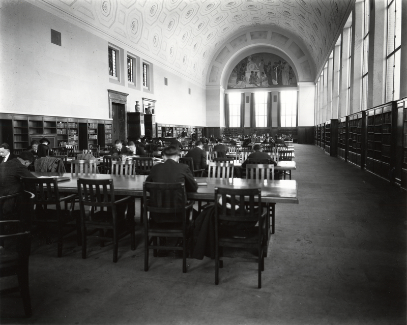 General Library, Reference Room, ca. 1920s
