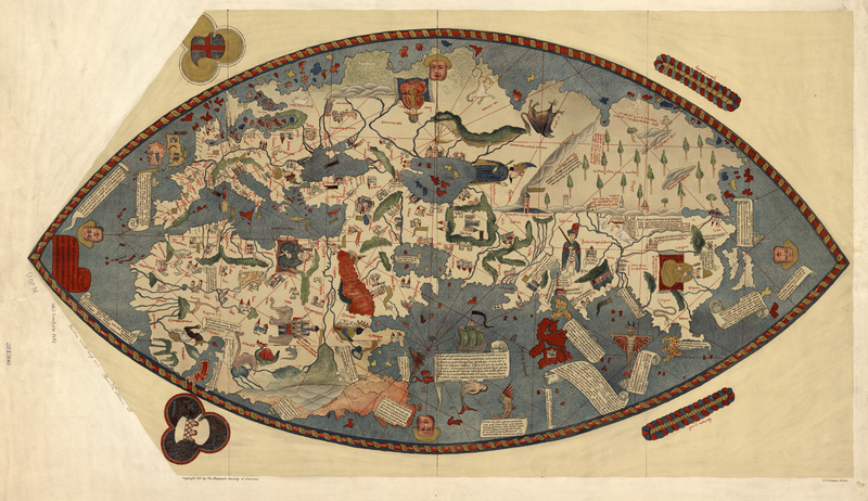 Maps and map making in india pre colonial maps online exhibits genoese world map gumiabroncs Images