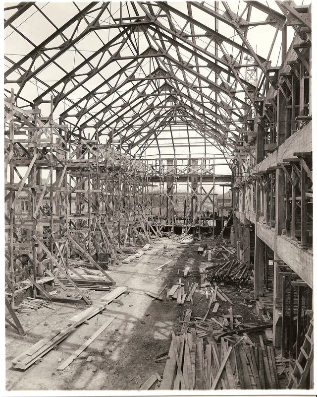 General Library, Main Reading Room under Construction, 1918