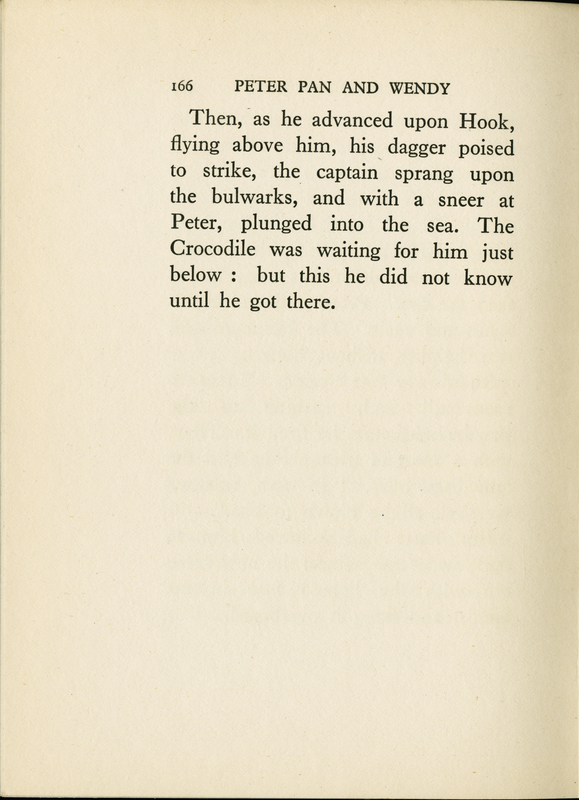 Page 166 of J.M. Barrie's Peter Pan & Wendy