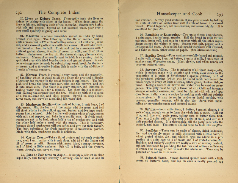 The complete Indian housekeeper & cook; giving duties of mistress and servants, the general management of the house and practical recipes for cooking in all its branches