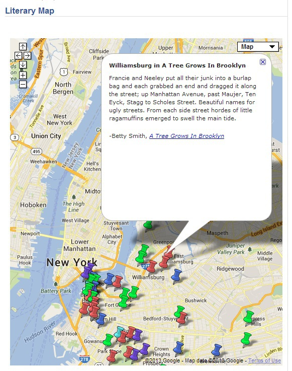 Literary Map of Brooklyn