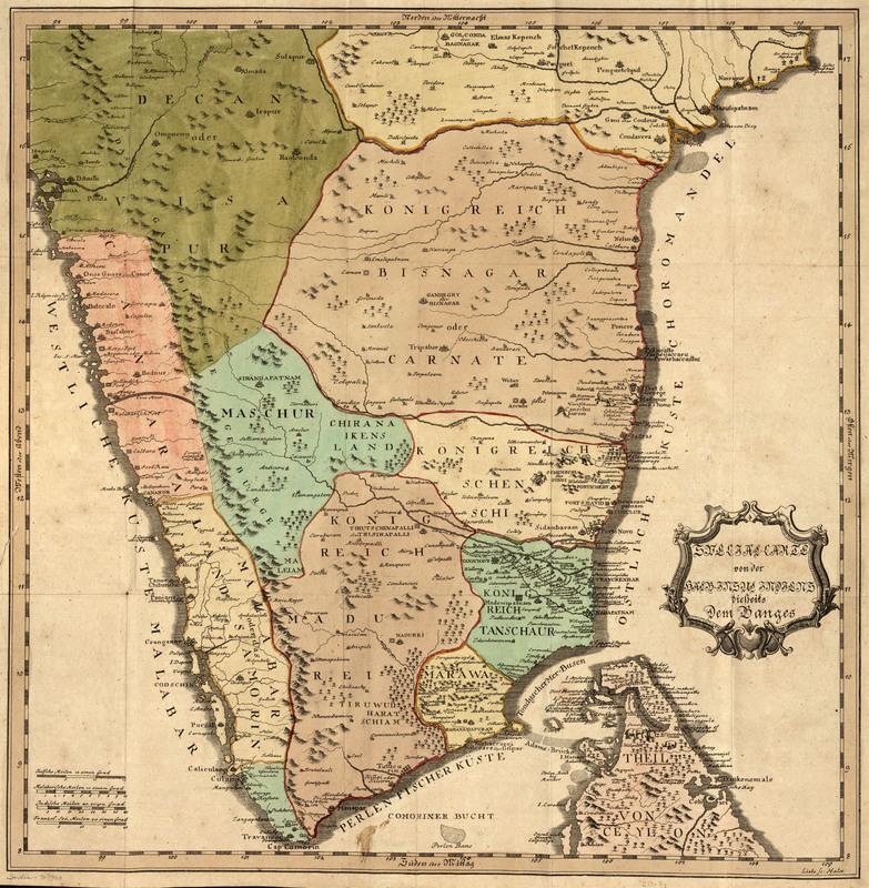 Special-Carte von der halb-insel Indiens dieserts dem Ganges