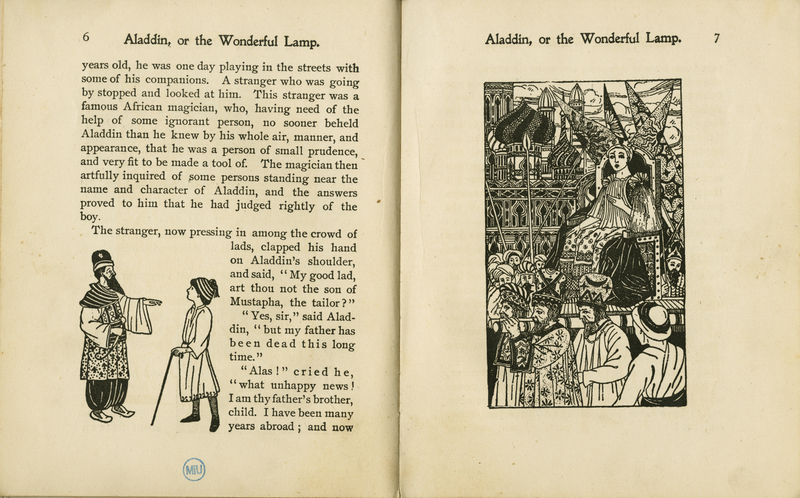 Pages 6-7 of Aladdin, or, The Wonderful Lamp