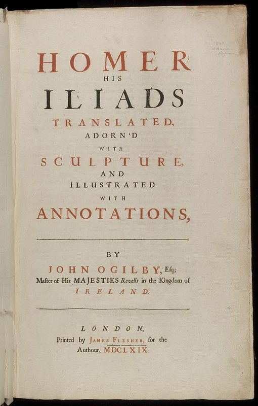 Homer his Odysses translated, adorn'd with sculpture, and illustrated with annotations