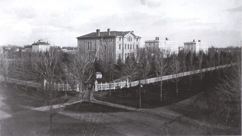 State Street Side of the Campus 1860s