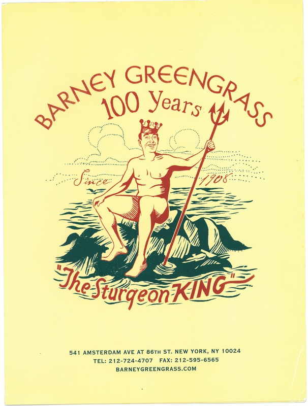 Barney Greengrass: the Sturgeon King