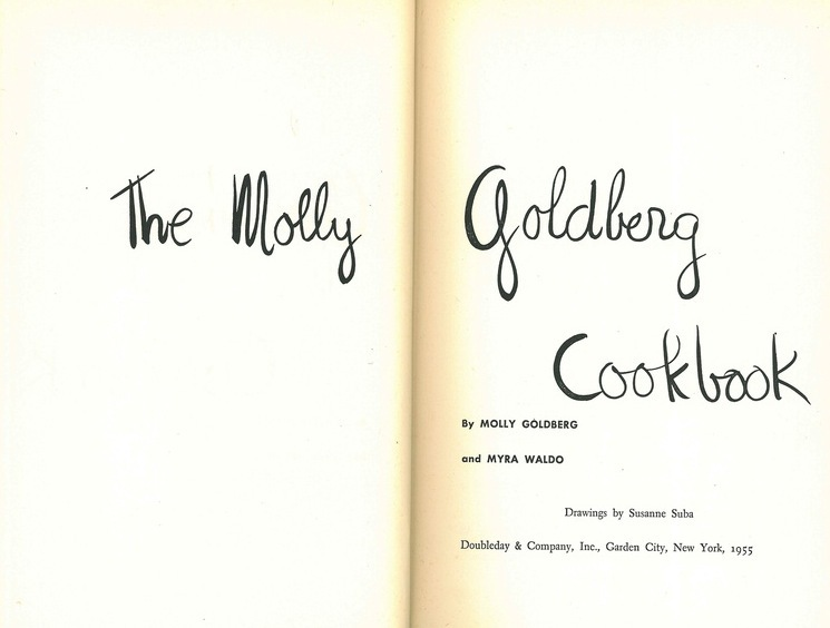 The Molly Goldberg Cookbook