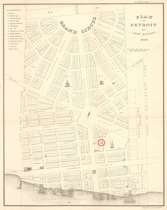 Plan of Detroit, 1830