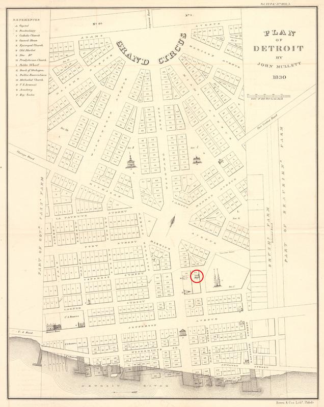 Plan of Detroit, 1830