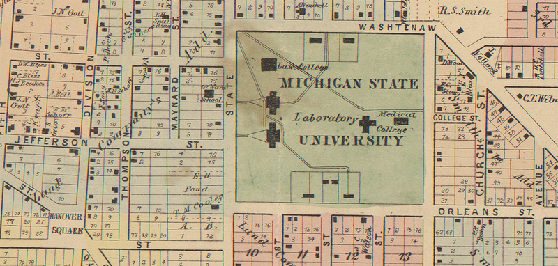 Excerpt of Plan of the City of Ann Arbor: Washtenaw County, Michigan