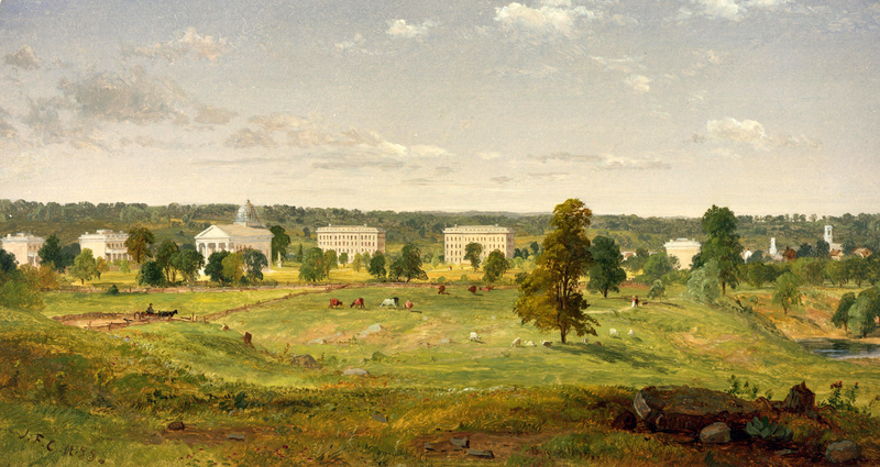 Cropsey painting of University of Michigan Campus, 1855