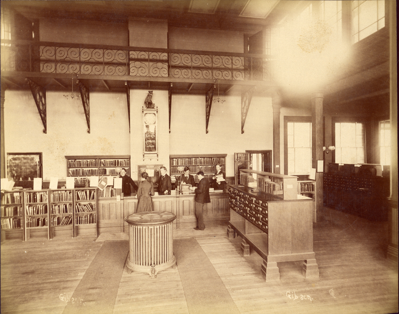 The Old Library Service Desk and Card Catalog