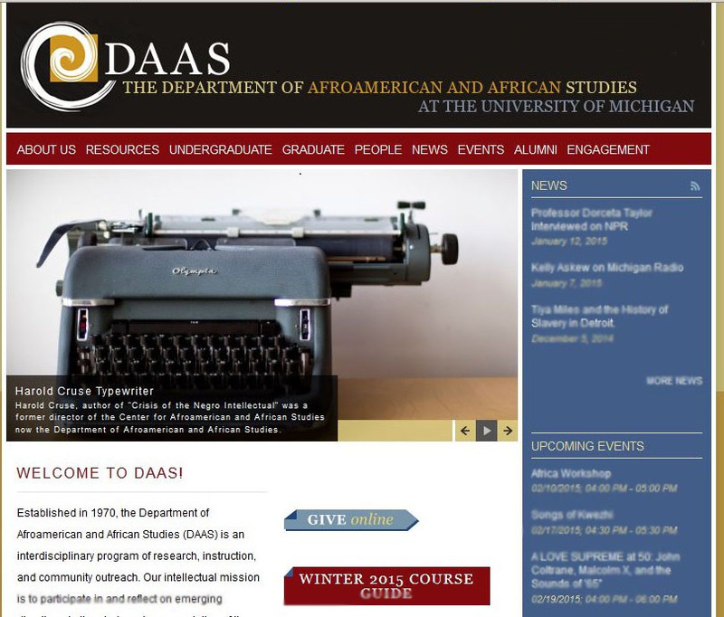 Department of Afroamerican and African Studies